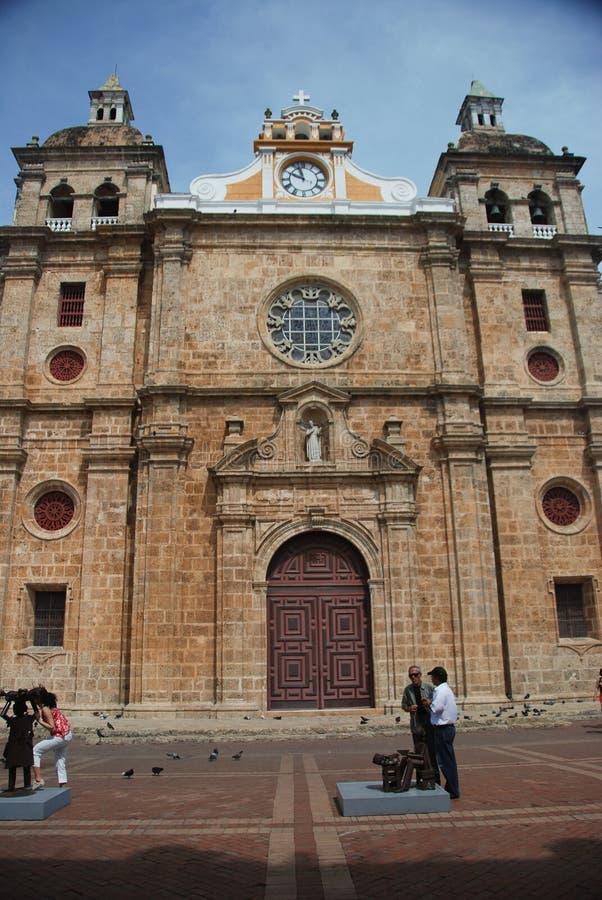 San Pedro Claver Church, Cartagena, Colômbia imagem de stock