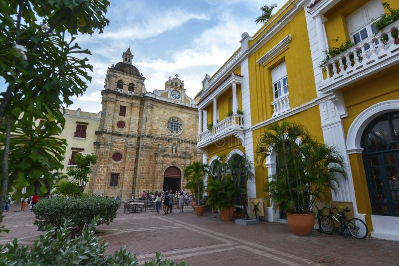 San Pedro Claver Church em Cartagena, Colômbia fotografia de stock royalty free