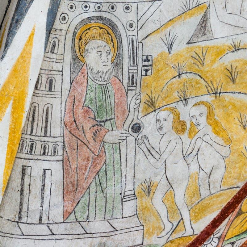 San Pedro con las llaves del reino, foto de archivo libre de regalías