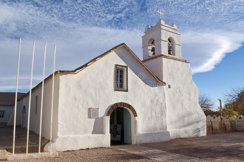 San Pedro de Atacama Church, Chile fotografía de archivo
