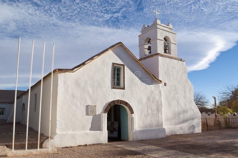 San Pedro de Atacama Igreja, o Chile fotografia de stock