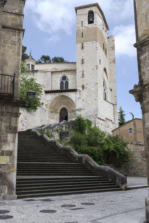 San Pedro de la Rua Church, Estella, Navarre spain fotografering för bildbyråer