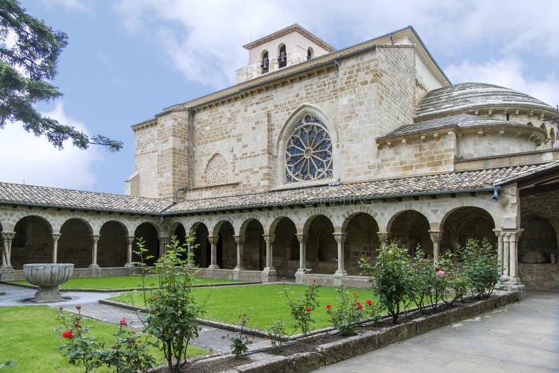San Pedro de la Rua Church, Estella, Navarre spain arkivfoton