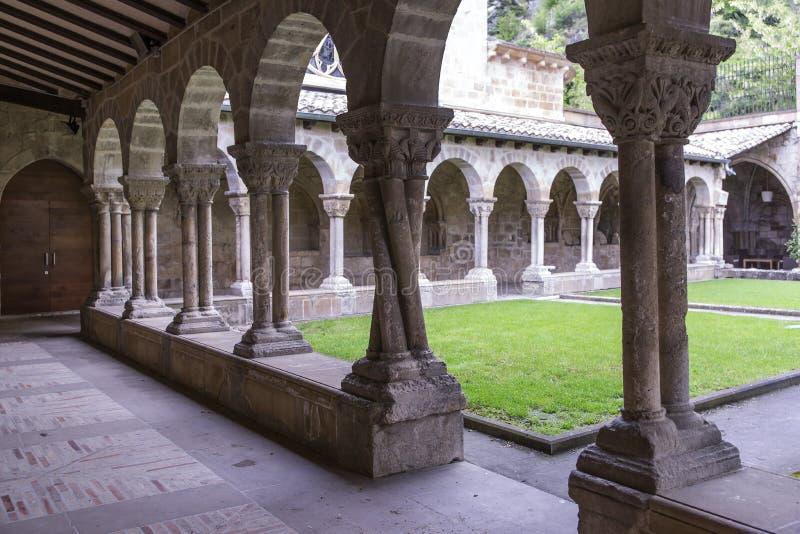 San Pedro de la Rua Church, Estella, Navarre spain royaltyfri foto