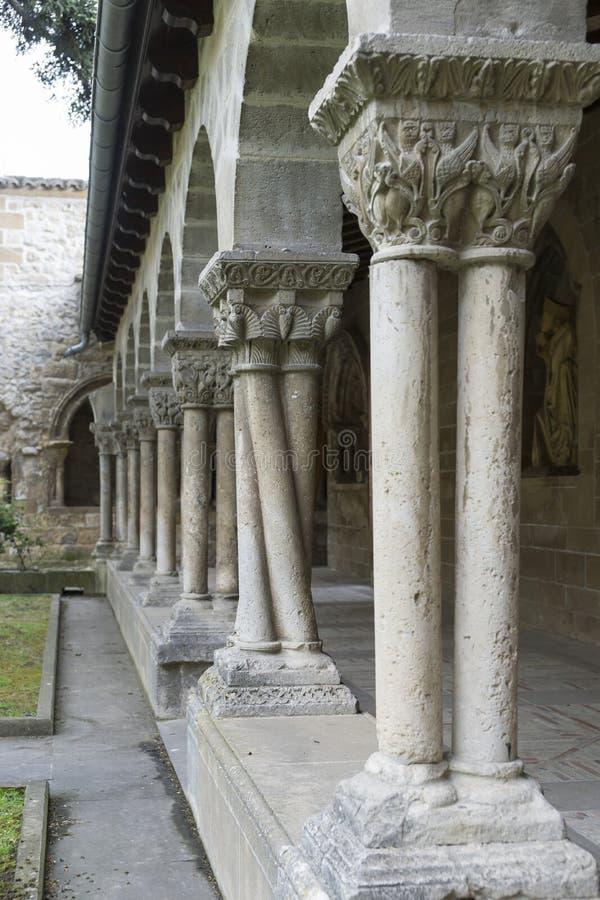 San Pedro de la Rua Church, Estella, Navarre spain royaltyfri fotografi