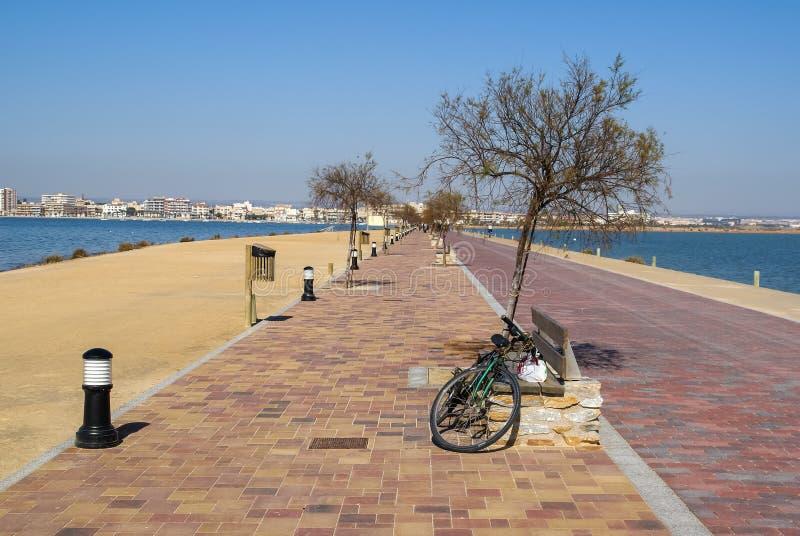 San Pedro del Pinatar, Valencia y Murcia, Spain. Landscape at San Pedro del Pinatar, Valencia y Murcia, Spain royalty free stock image