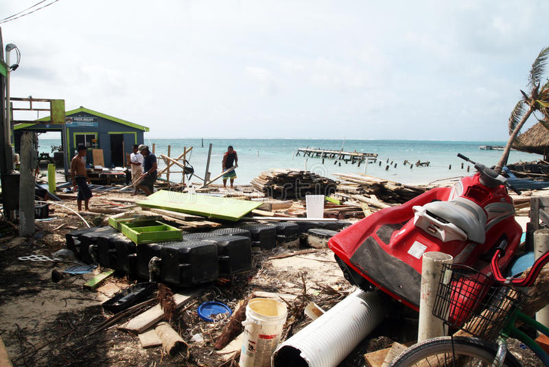 San Pedro huragan obraz royalty free