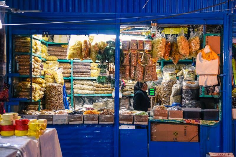 San Pedro Market/Cusco/Peru/07-14-2017 stock afbeelding