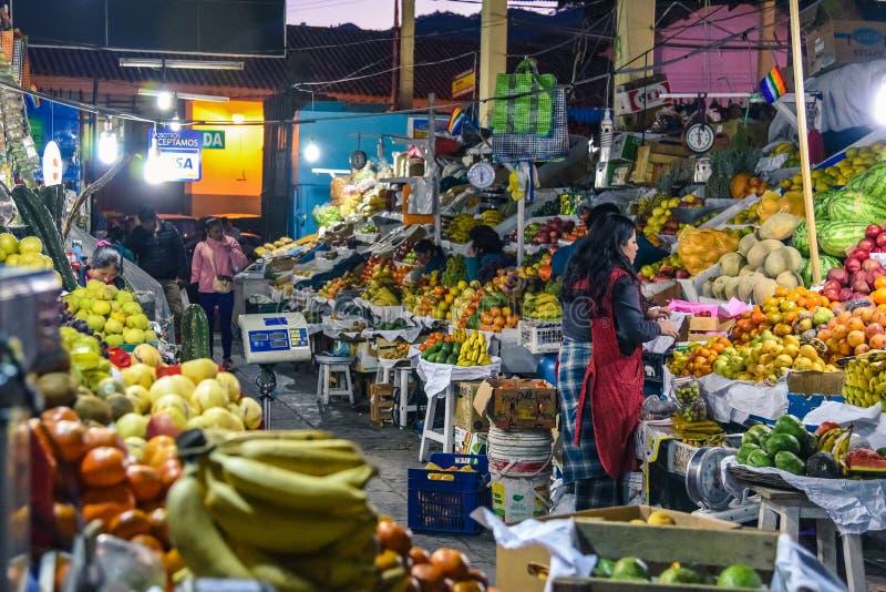 San Pedro Market/Cusco/Peru/07-14-2017 royalty-vrije stock afbeelding