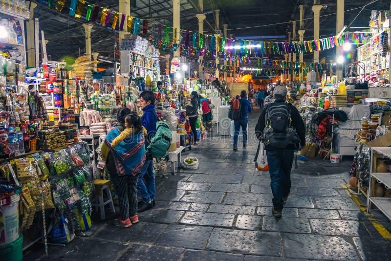 San Pedro Market/Cusco/Peru/07-14-2017 stock foto's