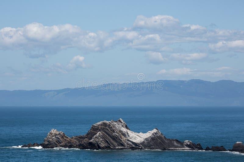 San Pedro Rock, Pacifica, San Mateo County, Kalifornien arkivbilder