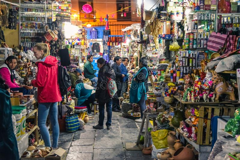 San Pedro rynek, Cusco, Peru/07-14-2017 obraz royalty free