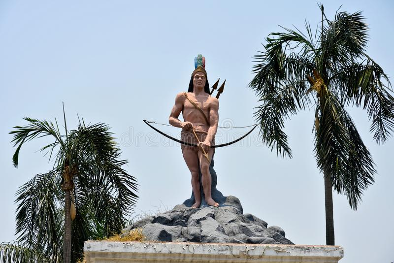 San Pedro Sula. Honduras. Monument to cacique Lempira, a war chieftain of the Lenca people of western Honduras in Central America during the 1530s. He led royalty free stock photo
