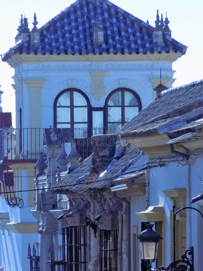 San Pedro ulica CC$SEVILLA fotografia royalty free