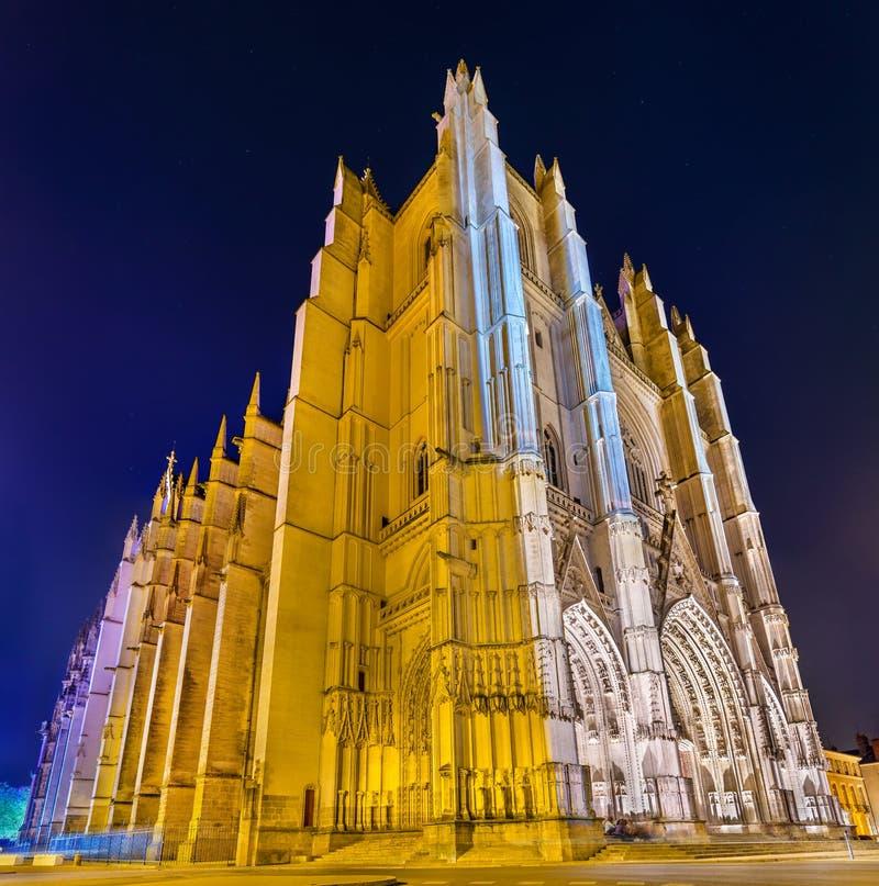 San Pedro y St Paul Cathedral de Nantes - Francia fotos de archivo libres de regalías