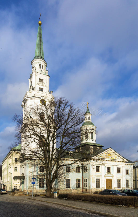 San Pedro y St. Paul Church, Riga foto de archivo libre de regalías