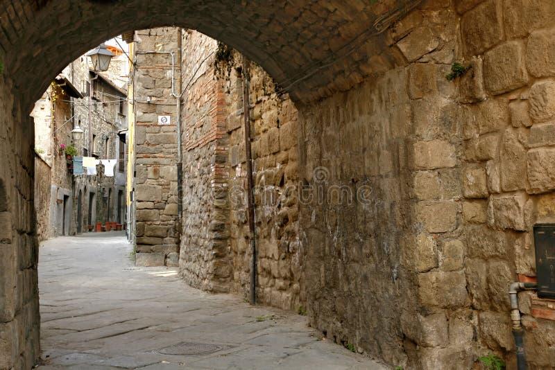 San Pellegrino - distretto medioevale - Viterbo fotografie stock libere da diritti