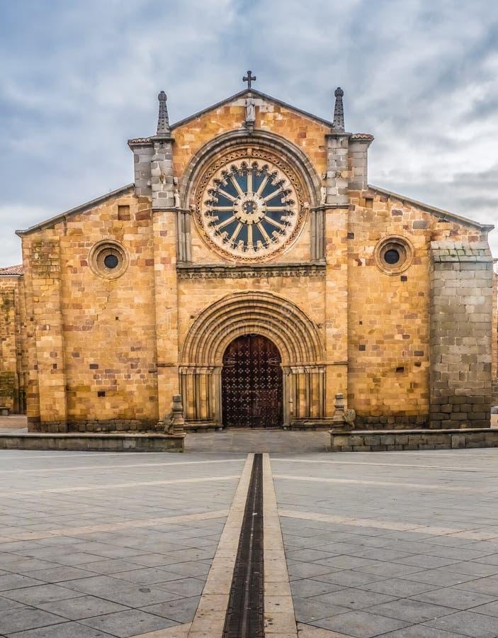 San Peter Church Iglesia de San Pedro, Avila, Castiglia e Leone, Spagna fotografie stock libere da diritti