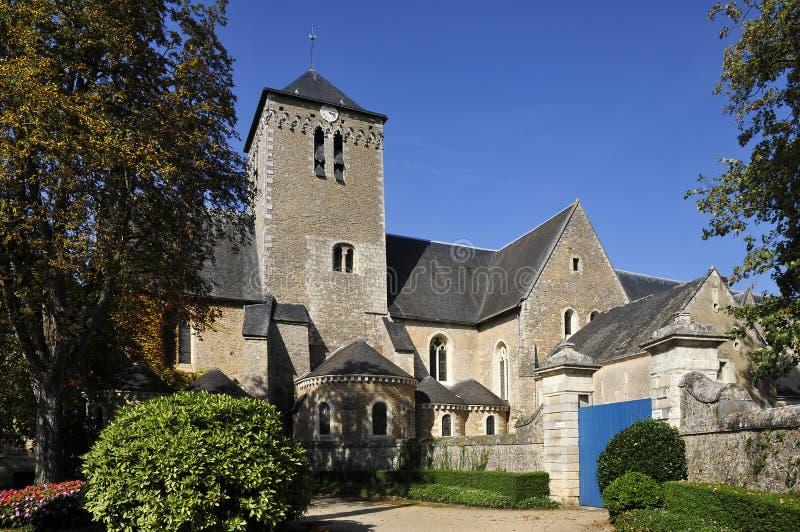 San Peter dell'abbazia a Solesmes in Francia fotografia stock libera da diritti
