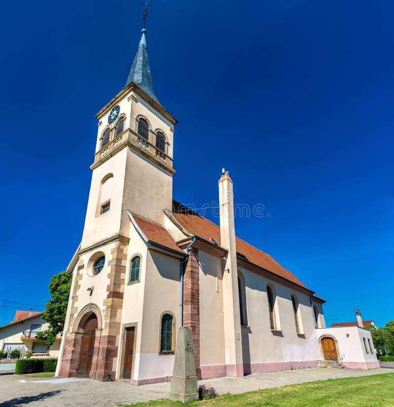 San Peter e Paul Church in Plobsheim - l'Alsazia, Francia immagini stock