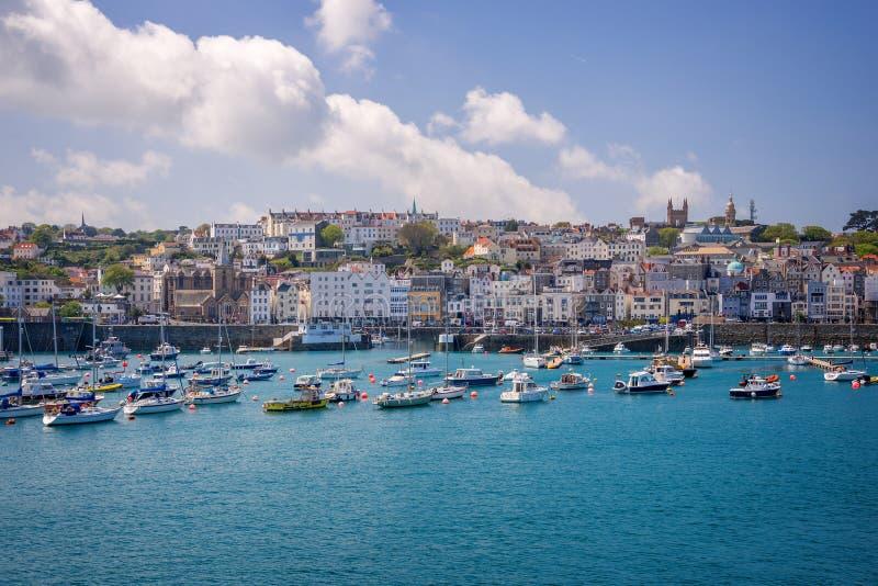 San Peter Port, Guernsey immagini stock libere da diritti
