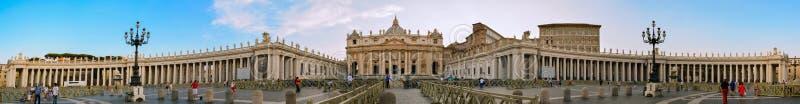 San Peters Square nel Vaticano fotografie stock libere da diritti
