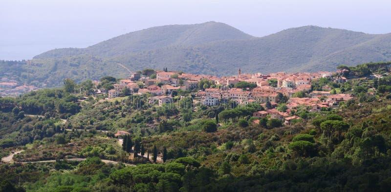 San Piero di Campo - small town near Marina di Campo on the island Elba royalty free stock photo
