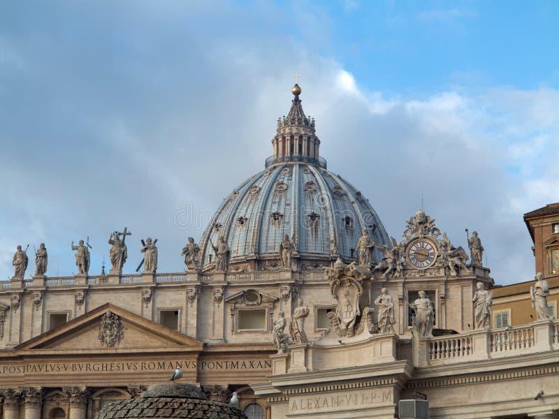 San Pietro bazylika w Watykan obraz royalty free