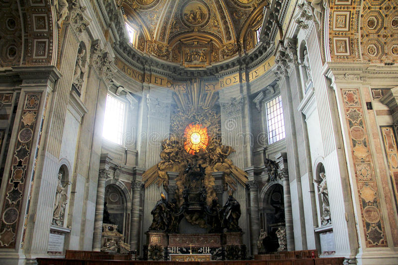 San Pietro Cathedral, Vatican, Italie photographie stock