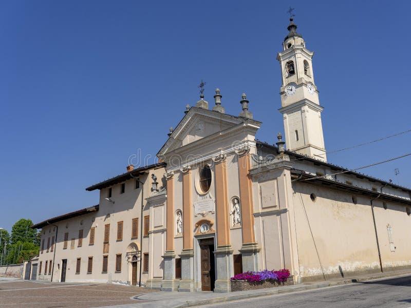San Pietro del Gallo, Cuneo, église historique photos stock