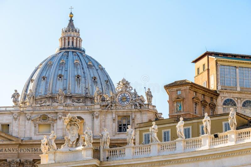 SAN Pietro Dome στη Ρώμη στοκ εικόνες με δικαίωμα ελεύθερης χρήσης