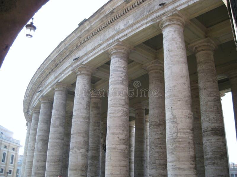 san-pietro-fyrkant-tuscan-collonades royaltyfri foto