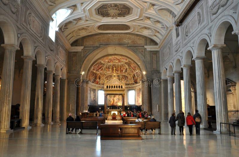 San Pietro i den Vincoli kyrkan italy rome arkivfoton