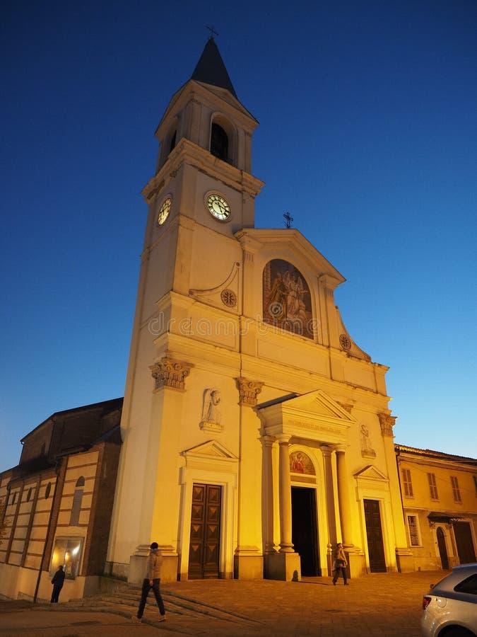 San Pietro na igreja de Vincoli (St Peter nas correntes) em Settimo Torinese fotos de stock royalty free