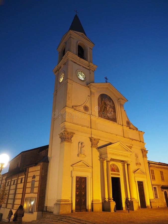 San Pietro na igreja de Vincoli (St Peter nas correntes) em Settimo Torinese imagem de stock royalty free