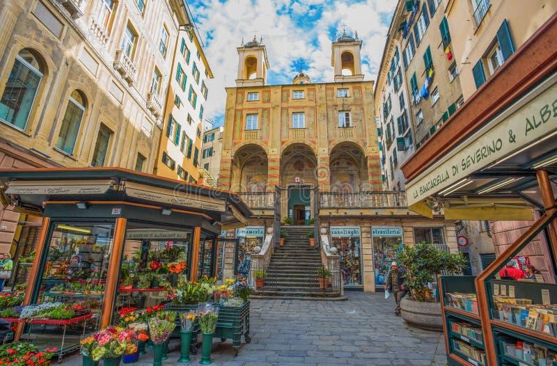 SAN Pietro Saint Peter στην εκκλησία Banchi, στο ιστορικό κέντρο της Γένοβας, Γένοβα, Ιταλία στοκ φωτογραφία
