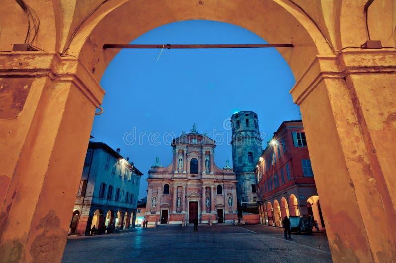 San Prospero教会, Reggio一点红 库存图片
