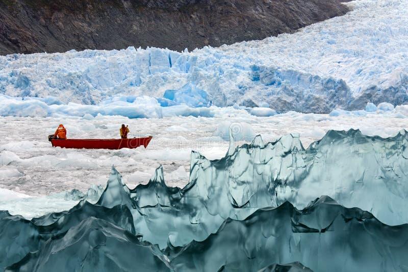 San Rafael冰河盐水湖-巴塔哥尼亚-智利 免版税库存图片