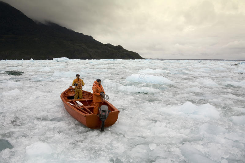 San Rafael冰河盐水湖-巴塔哥尼亚-智利 免版税库存照片