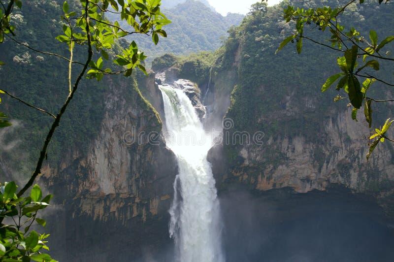 San Rafael秋天 厄瓜多尔 免版税库存图片