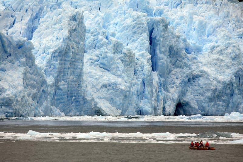 San Rafael glaciär - Patagonia - Chile royaltyfri bild