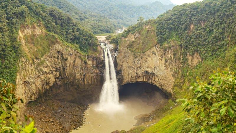 San Rafael Waterfall In Ecuador royalty-vrije stock afbeelding