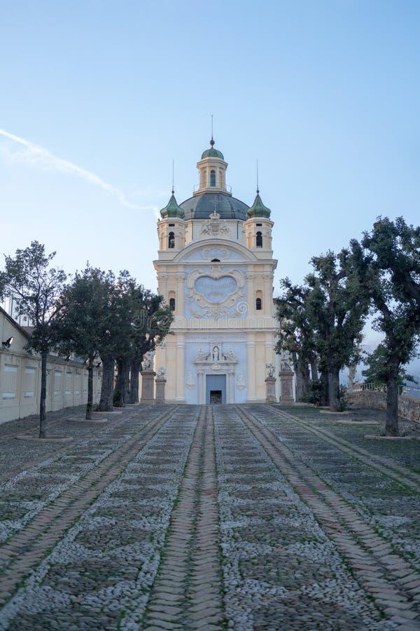 San Remo, Italia, santuario la nostra signora del mare fotografia stock libera da diritti