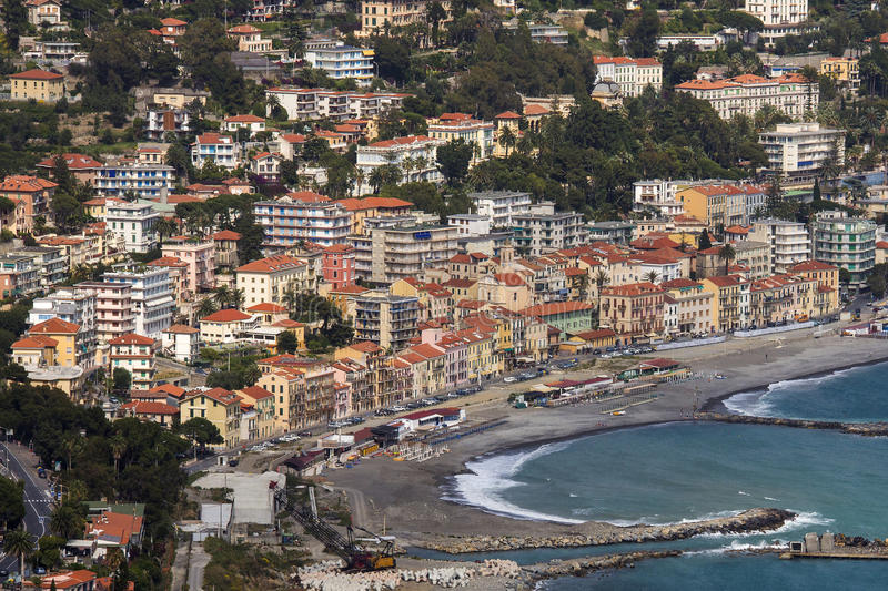 San Remo - Italy. The Mediterranean resort of San Remo (Sanremo) in the province of Imperia on the northwest coast of Italy stock image
