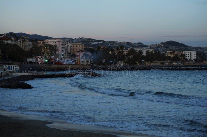 San Remo plaża zdjęcia royalty free