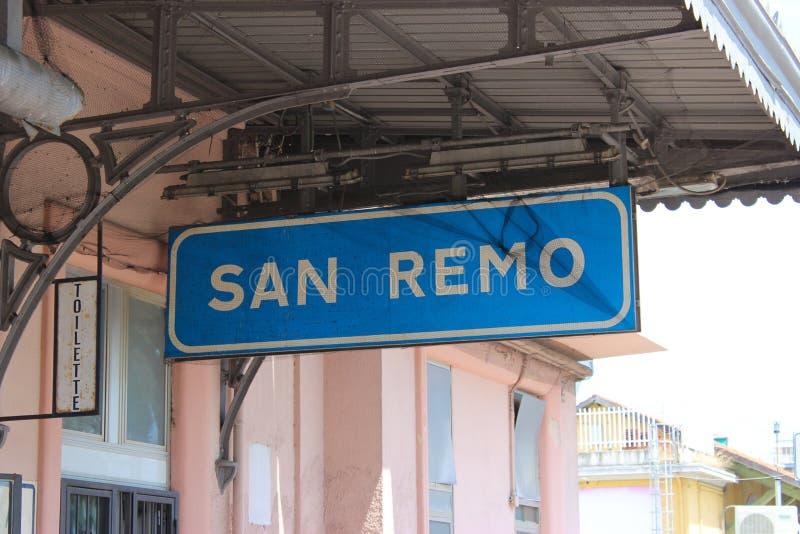 San Remo Railway Station arkivbilder