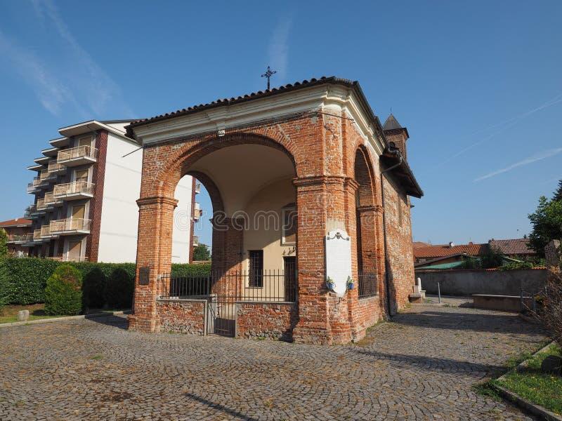 San Rocco chapel in Leini. LEINI, ITALY - CIRCA SEPTEMBER 2016: Cappella San Rocco (meaning St Roch chapel stock photography