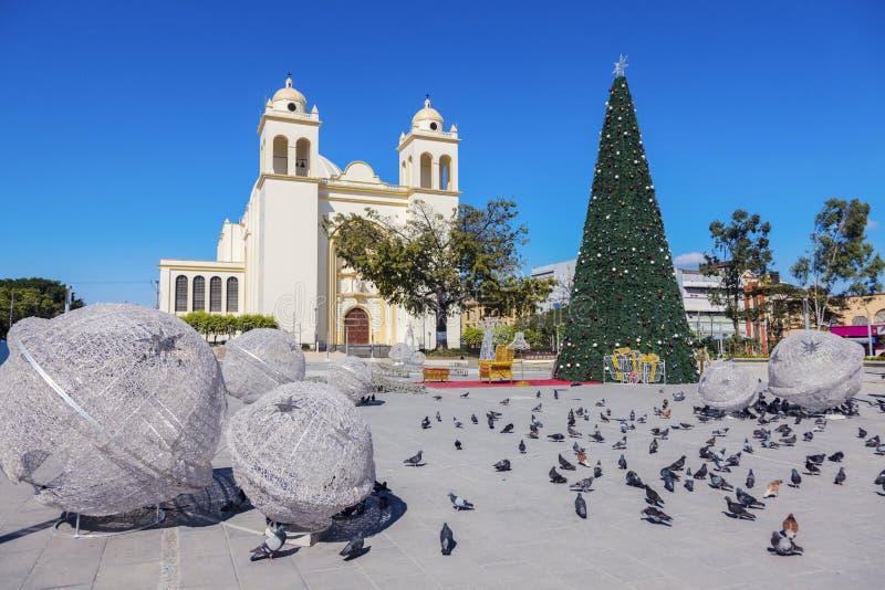 San Salvador Cathedral stock foto's