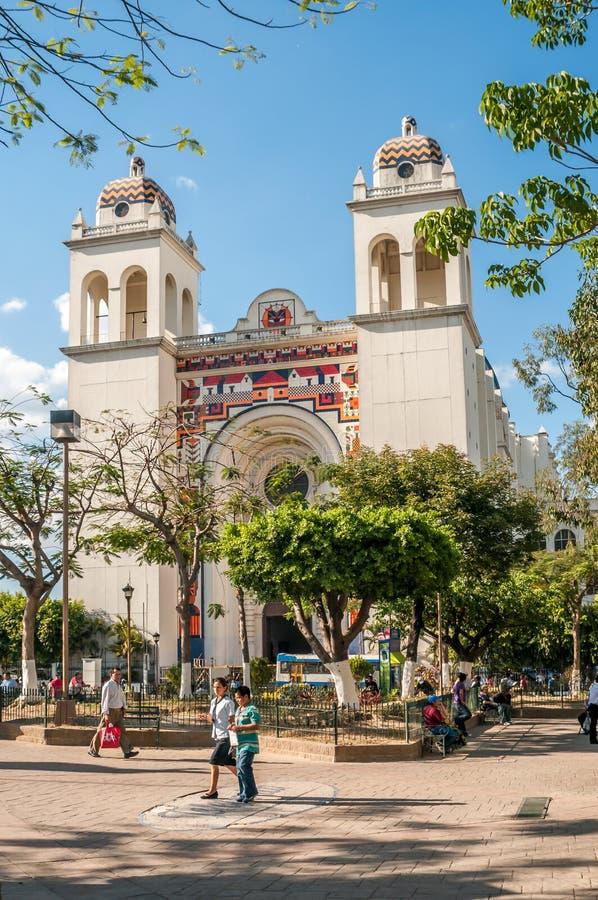 San Salvador Cathedral foto de stock royalty free