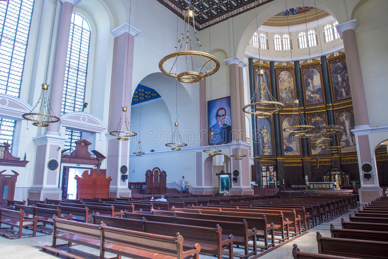 San Salvador Cathedral fotografia de stock royalty free